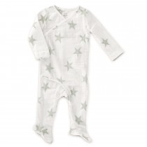 Long Sleeve Kimono One Piece- Micro Chip Star 3-6 M