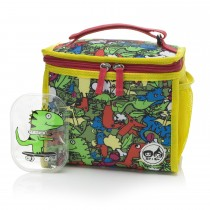 Zipped Lunch Bag & Ice Pack − Dino Multi
