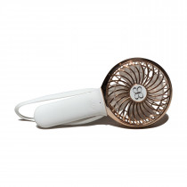 3 Speed Rechargeable Turbo Fan - White/Rose Gold