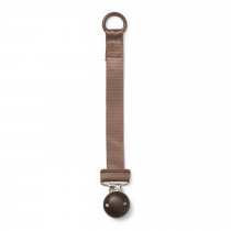 Pacifier Clip- Wood Elodie Chocolate