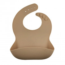 Silicone Food Bib - Barely Nude