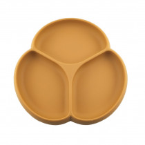 Silicone Suction Plate - Camel