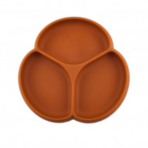 Silicone Suction Plate - Bohemian Rust