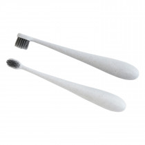 Kids Wheat Straw Toothbrush  - White