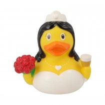 Bath Toy-Mini Bride Rubber Duck-White