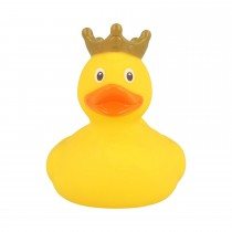 Bath Toy-Mini Rubber Duck with Crown -Yellow