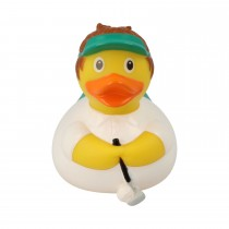 Bath Toy-Golfer  Duck  - White