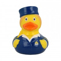 Bath Toy-Stewardess Duck -Blue/Yellow