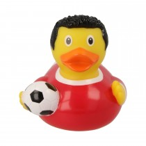 Bath Toy-Football Player Duck-Red/White