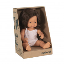 Baby Doll Brown Hair Girl 38cm