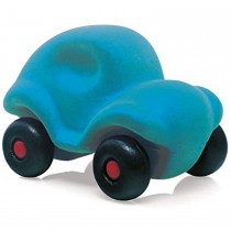 Soft Baby Educational  Toy-The Little Rubbabu Car - Turquoise