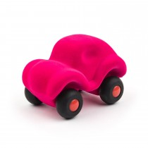 Soft Baby Educational Toy-The Little Rubbabu Car - Pink