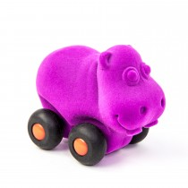 Soft Baby Educational Toy-Aniwheelies Hippo Small-Purple