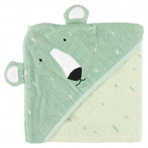 Hooded towel (75cm x 75cm) - Mr. Polar Bear