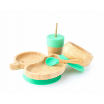 Duck Plate, Straw Cup, Bowl & Spoon combo in Green