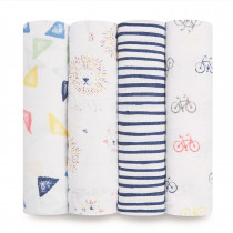 Classic 4-Pack Swaddles Leader of the Pack
