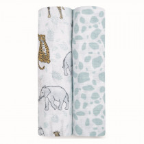Classic 2-Pack Swaddles Jungle