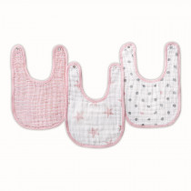 ADEN 3-Pack Classic Snap Bibs DOLL
