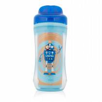 10oz Spoutless Insulated Cup - Blue Robot (Stage 4: 12m+)