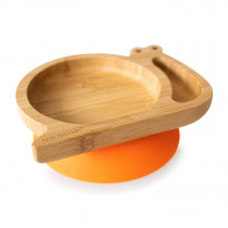 Snail Plate with suction base - Orange