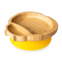 Ladybird Plate with suction base - Yellow