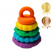 Rainbow Stacker And Teether Toy - Bright Rainbow