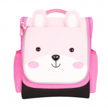 Jungle Kids School Bag  −  Sapiential Bear Pink