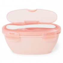 Easy Serve Travel Bowl & Spoon -Coral