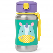 Zoo Stainless Steel Straw Bottle  - Unicorn