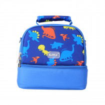 Insulated Bottle And Lunch Bag - Dinosaur Blue