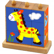 9pcs Stacking Cube Puzzle - Wild Animals