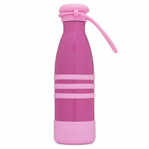 Aqua Bottle-Pacific Pink With Strap