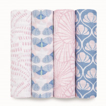 Classic 4 Pack Swaddles - Deco