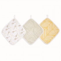 Essentials 3 Pack Washcloth - Starry Star