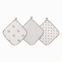 Essentials 3 Pack Washcloth - Dusty
