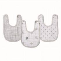 Essentials 3 Pack Classic Snap Bibs - Dusty