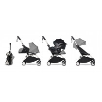 all-in-one BABYZEN stroller YOYO2 0+, car seat and 6+  White Frame & Grey