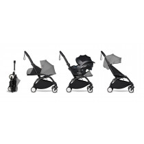 all-in-one BABYZEN stroller YOYO2 0+, car seat and 6+  Black Frame & Grey