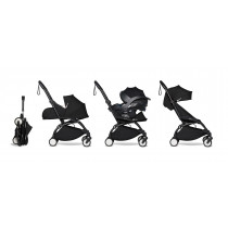 all-in-one BABYZEN stroller YOYO2 0+, car seat and 6+ Black Frame & Black