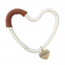 Heart Hook - Brown Leather