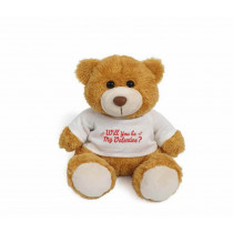 Golden teddy bear with red - Will you be my Valentine?