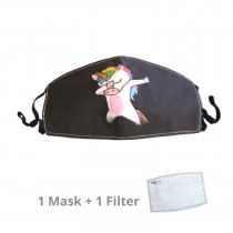 Kids Face Mask Unicorn Dab