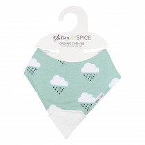 Organic Chew Bib - Rainy Days