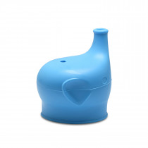Silicone Sippy Top Elephant - Blue