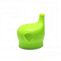 Silicone Sippy Top Elephant - Green