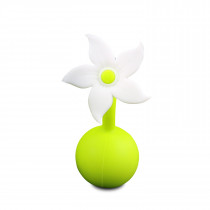 Silicone Breast Pump Flower - White Stopper