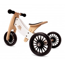 2-in-1 Tiny Tot PLUS Tricycle & Balance Bike - White