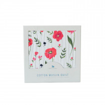 Cotton Muslin Quilt-Summer Poppy