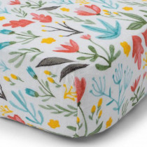 Cotton Muslin Crib Sheet-Meadow