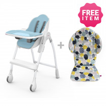 Cocoon Highchair with Seat Liner - Blue Raspberry Marshmallow
